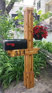 100 Letterbox Design Ideas Cedar Mailbox Post Mailbox Pinterest Mailbox Post Diy Mailbox