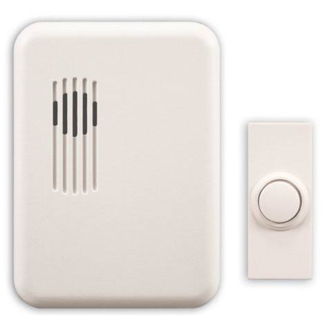 Heath Zenith Wireless Molded Door Chime - White