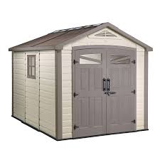 Keter Storage Shed Home Depot by Shop Keter Orion Gable Storage Shed Common 9 Ft X 9 Ft Interior