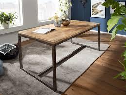 finebuy esszimmertisch 120x77x60 cm mango massivholz metall vintage esstisch küchentisch massiv klein holztisch esszimmer kleiner speisetisch