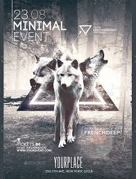 Minimal Wild Event Poster