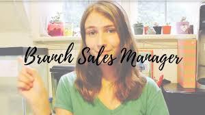 Branch Sales Manager Sample Resume