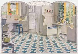 This Kitchen Is A Good Example Of The Sanitary Desired By Early 1920s Homemakers Floor Armstrong Linoleum