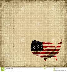 American Flag Tapestry Burlap Canvas Background With The Map Of America Shaped Into
