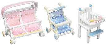 3 Sets - 2 Baby Carriages (Single, Double) And High Chair ... Sylvian Families Baby High Chair 5221 Epoch Calico Critters Baby Tree House Accessory Set Doll Cheap Find Deals On Line At Red Roof Cozy Cottage Complete With Figure And Accsories Seaside Tasure Fence Main Door Flora Berry Get Ready For Bed Furbanks Squirrel Girl Bamboo Panda Pizza Delivery Luxury Townhome Deluxe Nursery Cf1554 Sophies Love N Care