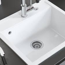 bergström keramik spüle valencia beschichtet küche einbauspüle spülbecken weiß