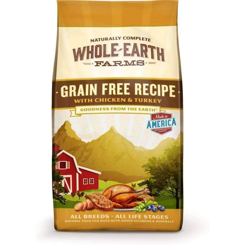 Merrick Whole Earth Farms Dry Dog Food - Grain Free Recipe With Chicken & Turkey