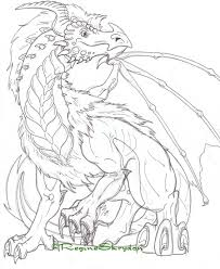 Detailed Coloring Pages For Adults In Hard Dragon