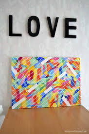 12 Easy DIY Canvas Art Crafts How To Decorate Your Own Blank Diy Wall