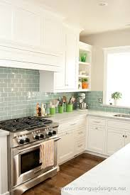 surf glass subway tile subway tiles white cabinets and whisper