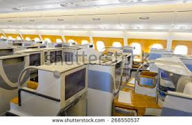 Etihad Airways Business Class Seats Stock Royalty Free