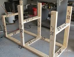 mobile work bench for the garage or small workshop wood storage