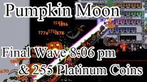 Pumpkin Moon Terraria by Terraria Expert Pumpkin Moon Vs Phantasm Jinni