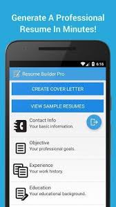 mobile resume maker resume builder pro 5 minutes cv maker