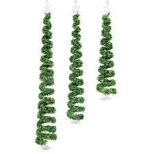Spiral Christmas Tree Ornament Set Of 3 75H 115H