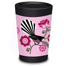 Reusable Coffee Cup Pink Fantail By Greg Straight