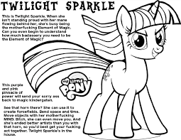 Coloring Pages Of Twilight Sparkle My Little Pony