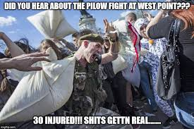 Image tagged in pillow fighting Imgflip
