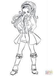 Descendants Wicked World CJ Hook Coloring Page