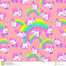 Unicorn Pattern Pink Stock Illustration Of Cute