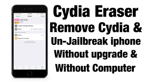 How To Delete Cydia & Unjailbreake your iPhone iPad without