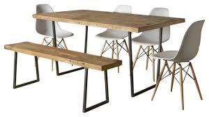 Brooklyn Modern Rustic Reclaimed Wood Dining Table Standard 48x30