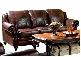 Your Cost Furniture Princeton Dark Brown Tri Tone Leather Sofa