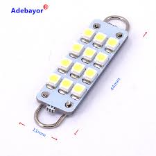 4 X 44mm double hook 1210 12 led 3528 smd Dome Festoon Interior