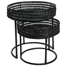 Pavillion Round Nesting Tables Set/2 Black Nesting Tables Set Of 2 Havsta Gray Josef Albers Tables 4 Pavilion Round Set Zib Gray Piece Oslo Retail 3 Modern Reflections In Blackgold Two Natural Pine And Grey Zoa Nesting Tables Set Of Lack Black White Contemporary Solid Wood Maitland Smith Faux Bamboo