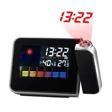reveil heure au plafond station météo réveil avec projection de l heure achat prix fnac