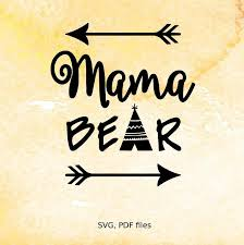 8 Name Paper Crafts Mama Bear SVG File Vinyl Cutting Cricut