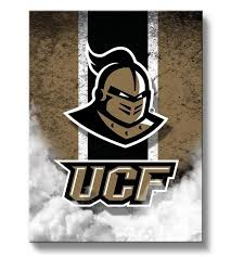 UCF Golden Knights Vintage Canvas Print Rectangle From Team Sports Click Now To Shop College Wall Art For A Home Or Office