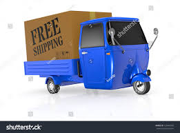 One Mini Truck One Big Carton Stock Illustration 120464782 ...