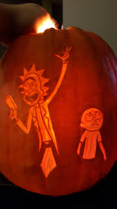 Nerdy Pumpkin Carving by Rick And Morty Portal Pumpkin Carving Album On Imgur