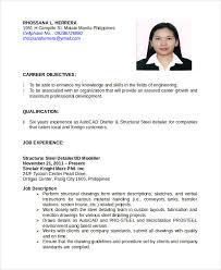 Autocad Operator Resume Sample Pdf