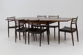 Danish Dining Room Set By Niels Otto Moller For JL Mollers 1960s 1