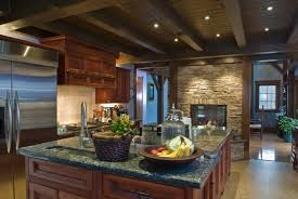 Primitive Kitchen Countertop Ideas by Kitchen Shelving Kitchens With Cherry Cabinets Grey Double Bowl