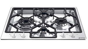 Smeg 60cm 4 Burner Gas Cooktop Stainless Steel Cooktops