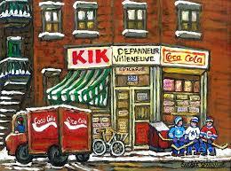 Coca Cola Truck Rue Villeneuve Kik Depanneur Montreal Hockey
