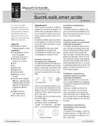 fiche p馘agogique atelier cuisine thème aliments cuisine fichespédagogiques com