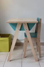 bureau enfant avec chaise hêtre massif gostei woods