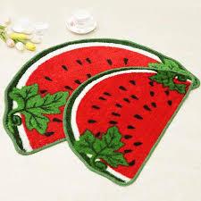 2 pcs nette wassermelone boden matte kinderzimmer tür matte bad teppiche küche teppich halbkreis nicht slip matte helle rot bad ac
