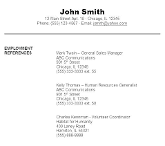 Example Format Of Resume References Sample Reference Template With How Document Malaysia