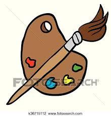 Cartoon Painters Palette Illustration
