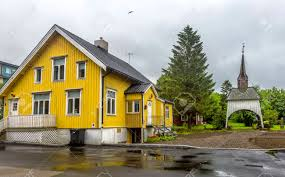 100 Houses In Norway View Of Typical Norwegian Houses In Sortland Sortland Is A Town