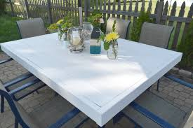 Patio Tablecloth With Umbrella Hole by Patio Table Transformation With Full Tutorial U2022 Our House Now A Home