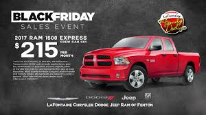 LaFontaine CDJR Of Fenton Black Friday Sales Event. - YouTube Hoblit Chrysler Jeep Dodge Ram Srt New 2500 Crew Cab 4x4 Lease And Sale Special In Massillon Near Denver Trucks Larry H Miller 104th Riverside County Ram Dealership San Maguire In Syracuse Ny Fitchburg Leominster Orange Dealer Salvadore Chris Leith Serving Raleigh Used Cars Golling Cdjr Power Days Youtube Ewald Franklin Wi Cjdr Diehl Of Butler Pa Windsor Dealership