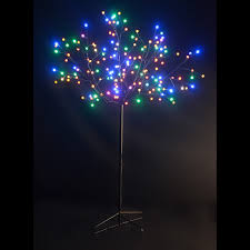 Gumdrop Christmas Tree by 4 Ft Tall Led Twig Tree With White Trunk And 95 White Lights