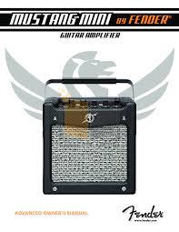 Fender Mustang Floor Manual by Download Free Pdf For Fender Mini Tone Master Amp Manual