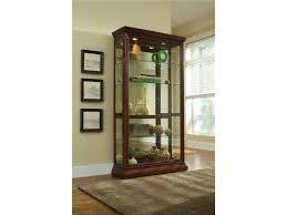 Pulaski Oak Corner Curio Cabinet by Pulaski Furniture Curios Eden House Two Way Sliding Door Curio